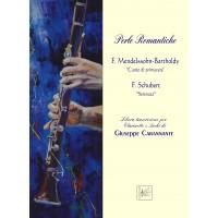 """Perle Romantiche for Clarinet and strings by Giuseppe Carannante, F. Mendelssohn-Bartholdy """"Canto di primavera"""" e Franz Schubert """"Serenata"""""""